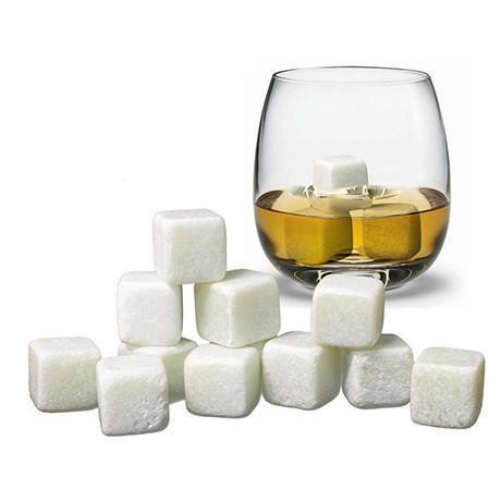 6 Pack White Whiskey Ice Stones
