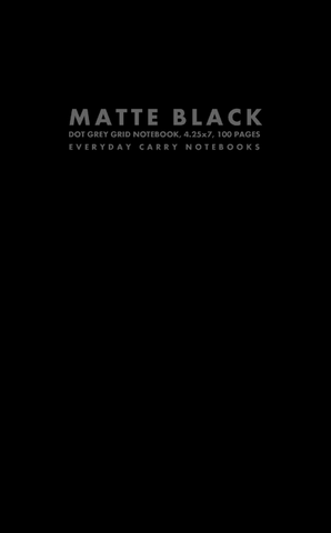 Matte Black Dot Grey Grid Notebook, 4.25x7, 100 Pages by Everyday Carry Notebooks (ProductiveLuddite.com)