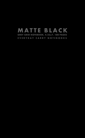 Matte Black Grey Grid Notebook, 4.25x7, 100 Pages by Everyday Carry Notebooks (ProductiveLuddite.com)