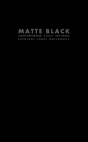 Matte Black Lined Notebook, 4.25x7, 100 Pages by Everyday Carry Notebooks (ProductiveLuddite.com)