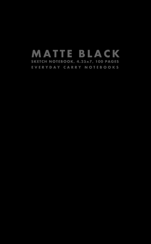 Matte Black Sketch Notebook, 4.25x7, 100 Pages by Everyday Carry Notebooks (ProductiveLuddite.com)