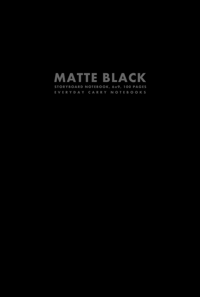 Matte Black Storyboard Notebook, 6x9, 100 Pages by Everyday Carry Notebooks (ProductiveLuddite.com)