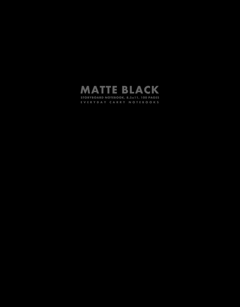 Matte Black Storyboard Notebook, 8.5x11, 100 Pages by Everyday Carry Notebooks (ProductiveLuddite.com)