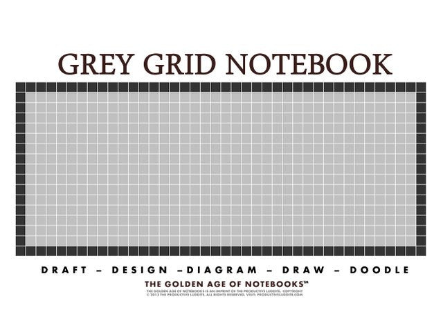 Discover Grey Grid Notebook By The Golden Age Of Notebooks