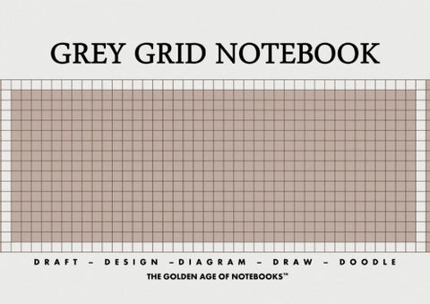 Grey Grid Notebook by The Golden Age of Notebooks (ProductiveLuddite.com)
