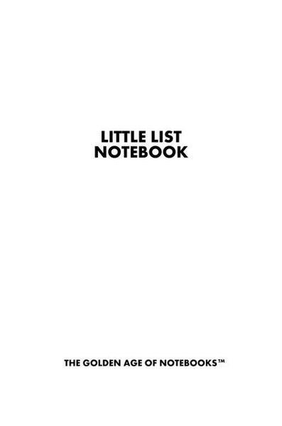 Sample Page from Little List Notebook