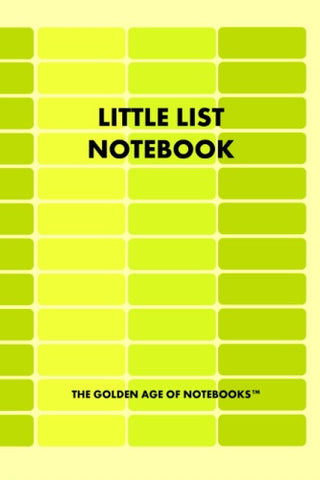 Little List Notebook by The Golden Age of Notebooks (ProductiveLuddite.com)