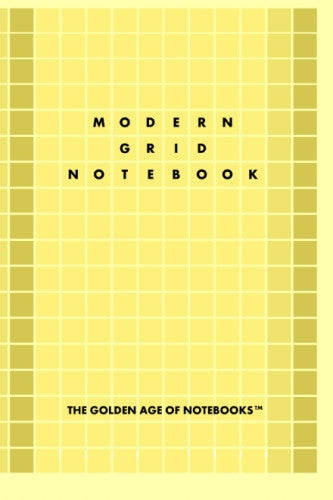 Modern Grid Notebook by The Golden Age of Notebooks (ProductiveLuddite.com)