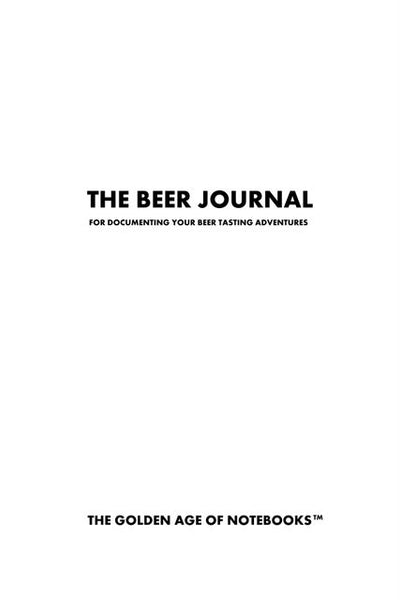 Sample Page from The Beer Journal