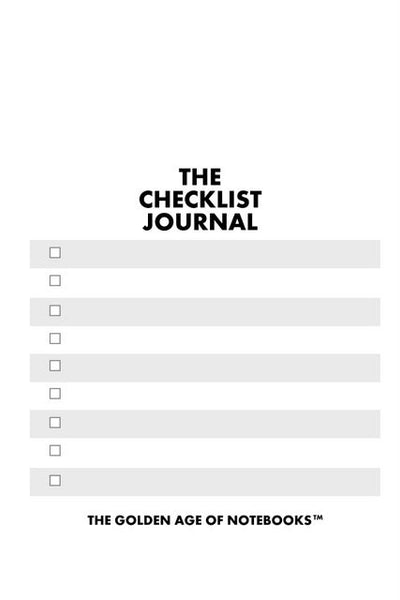 Sample Page from The Checklist Journal