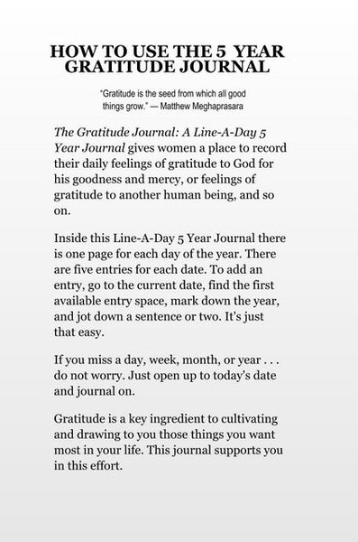 Sample Page from The Gratitude Journal