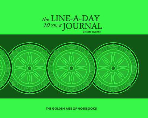 The Line-A-Day 10 Year Journal: Green Jacket by The Golden Age of Notebooks (ProductiveLuddite.com)