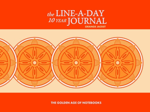 The Line-A-Day 10 Year Journal: Orange Jacket by The Golden Age of Notebooks (ProductiveLuddite.com)