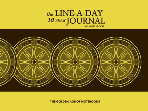The Line-A-Day 10 Year Journal: Yellow Jacket by The Golden Age of Notebooks (ProductiveLuddite.com)