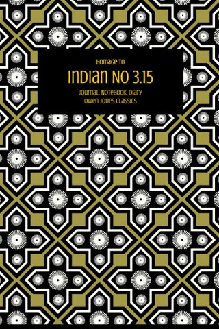 Indian No 3.15 Notebook, Journal, Diary by Owen Jones Classics (ProductiveLuddite.com)
