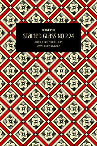 Stained Glass No 2.24 Journal, Notebook, Diary by Owen Jones Classics (ProductiveLuddite.com)