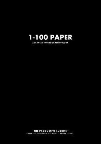1-100 Paper by Productive Luddite Notebooks (ProductiveLuddite.com)