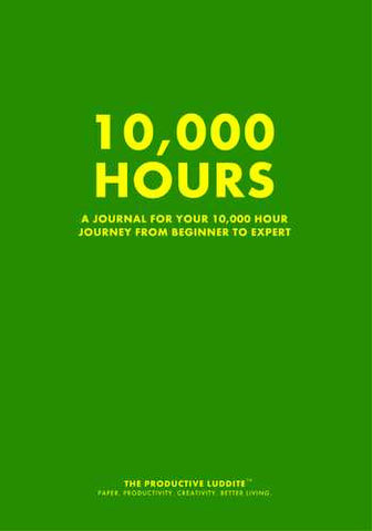 10,000 Hours by Productive Luddite Notebooks (ProductiveLuddite.com)