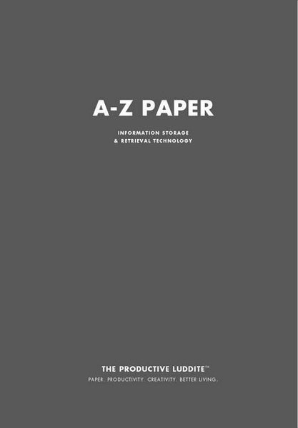 Sample Page from A-Z Paper