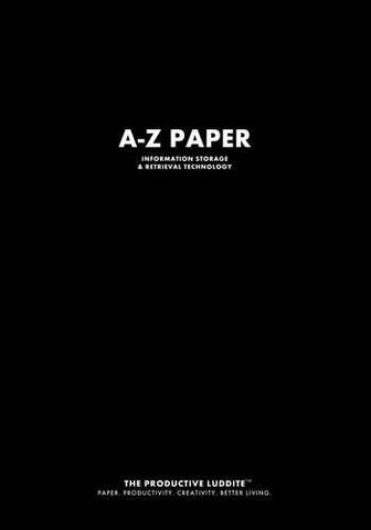 A-Z Paper by Productive Luddite Notebooks (ProductiveLuddite.com)