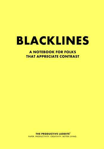 Blacklines by Productive Luddite Notebooks (ProductiveLuddite.com)