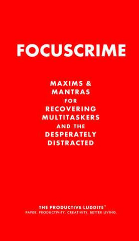 Focuscrime by Productive Luddite Notebooks (ProductiveLuddite.com)