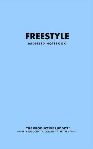 Freestyle Midsized Notebook by Productive Luddite Notebooks (ProductiveLuddite.com)