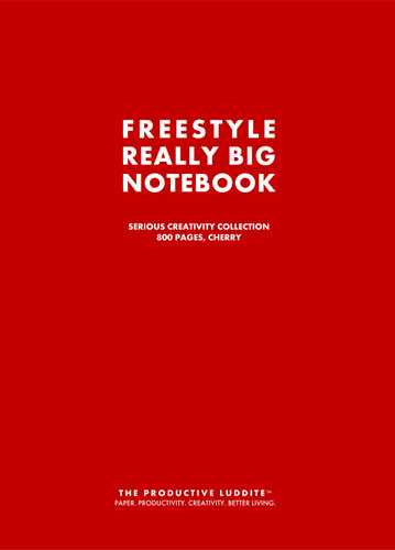Freestyle Really Big Notebook, Serious Creativity Collection, 800 Pages, Cherry by Productive Luddite Notebooks (ProductiveLuddite.com)