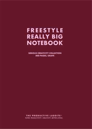 Freestyle Really Big Notebook, Serious Creativity Collection, 800 Pages, Grape by Productive Luddite Notebooks (ProductiveLuddite.com)