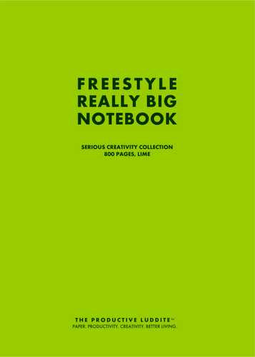 Freestyle Really Big Notebook, Serious Creativity Collection, 800 Pages, Lime by Productive Luddite Notebooks (ProductiveLuddite.com)