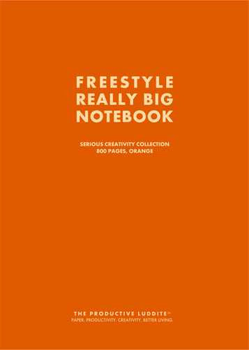 Freestyle Really Big Notebook, Serious Creativity Collection, 800 Pages, Orange by Productive Luddite Notebooks (ProductiveLuddite.com)