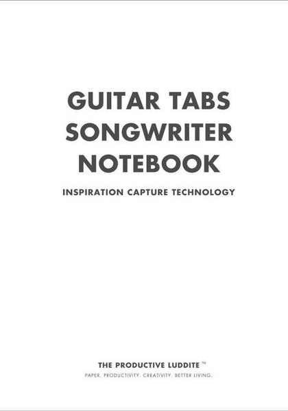 Sample Page from Guitar Tabs Songwriter Notebook