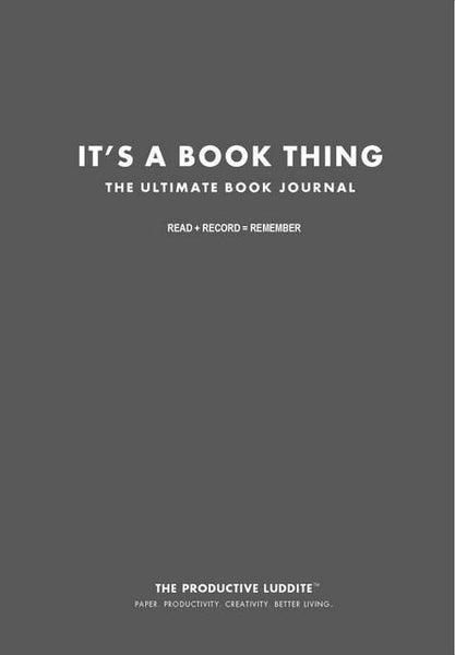 Sample Page from It's A Book Thing: The Ultimate Book Journal