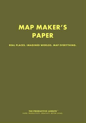 Map Maker's Paper by Productive Luddite Notebooks (ProductiveLuddite.com)