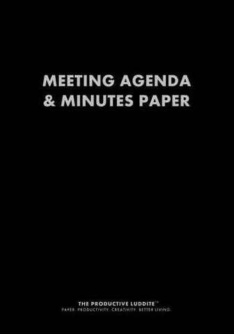 Meeting Agenda & Minutes Paper by Productive Luddite Notebooks (ProductiveLuddite.com)