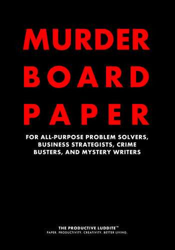 Murder Board Paper by Productive Luddite Notebooks (ProductiveLuddite.com)