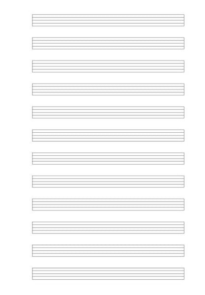 Sample Page from Music Paper