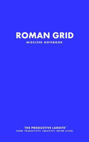 Roman Grid Midsized Notebook by Productive Luddite Notebooks (ProductiveLuddite.com)