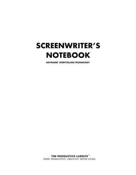 Sample Page from Screenwriter's Notebook