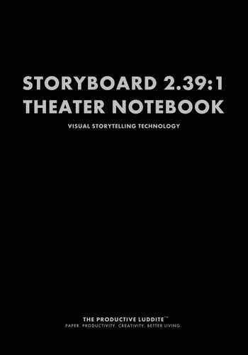 Storyboard 2.39:1 Theater Notebook by Productive Luddite Notebooks (ProductiveLuddite.com)