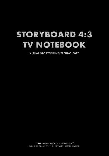 Storyboard 4:3 TV Notebook by Productive Luddite Notebooks (ProductiveLuddite.com)