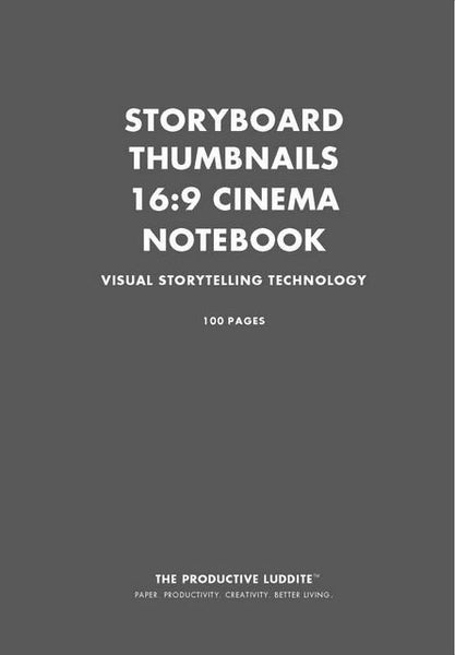 Sample Page from Storyboard Thumbnails 16:9 Cinema Notebook