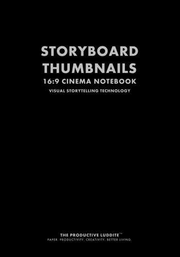 Storyboard Thumbnails 16:9 Cinema Notebook by Productive Luddite Notebooks (ProductiveLuddite.com)