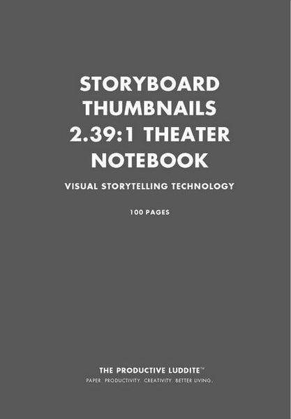 Sample Page from Storyboard Thumbnails 2.39:1 Theater Notebook