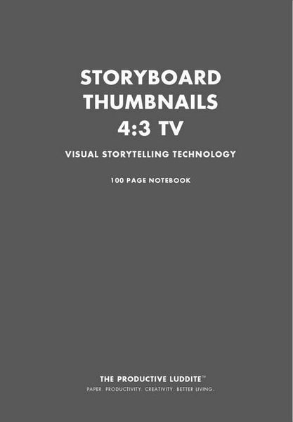 Sample Page from Storyboard Thumbnails 4:3 TV Notebook