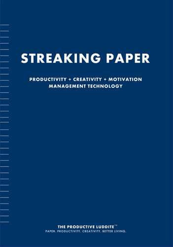 Streaking Paper by Productive Luddite Notebooks (ProductiveLuddite.com)