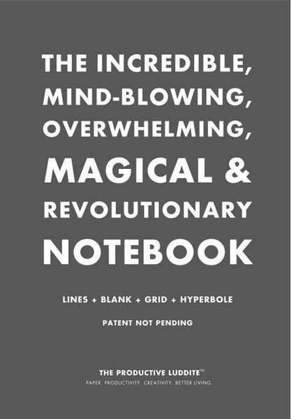Sample Page from The Incredible, Mind-Blowing, Overwhelming, Magical & Revolutionary Notebook