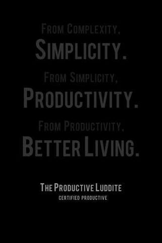 The Productive Luddite by Productive Luddite Notebooks (ProductiveLuddite.com)