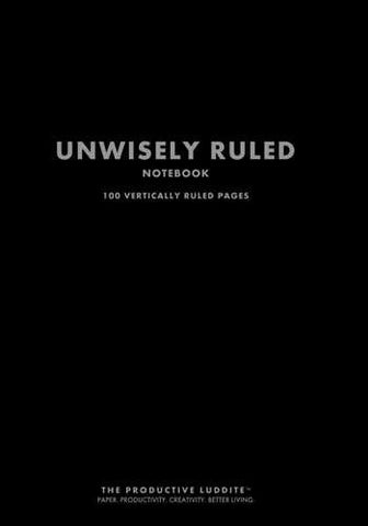 Unwisely Ruled Notebook by Productive Luddite Notebooks (ProductiveLuddite.com)