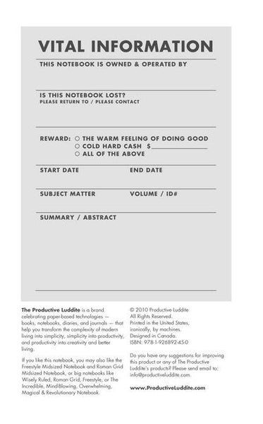 Sample Page from Wisely Ruled Midsized Notebook